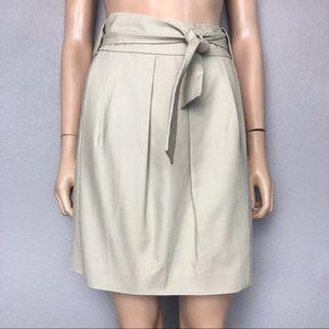 Michael Michael Kors Pleated Khaki Pencil Skirt
